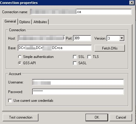 how to give the ldap user search base in cucm